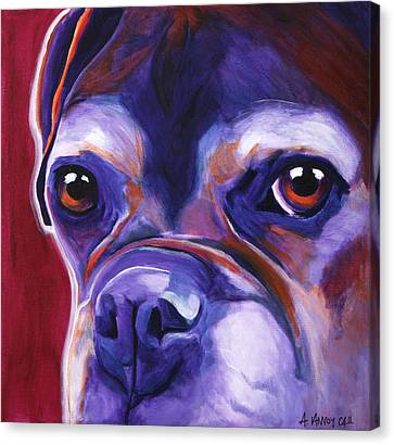Boxer - Wallace Canvas Print by Alicia VanNoy Call