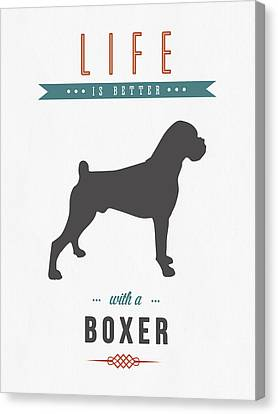Puppy Canvas Print - Boxer 01 by Aged Pixel