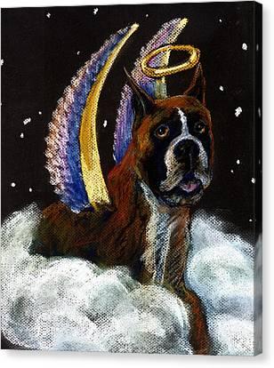 Boxer Angel Canvas Print by Darlene Grubbs