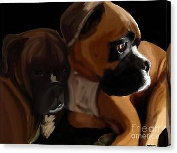 Boxer Brothers Canvas Print by Christina Kulzer