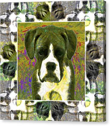 Boxer Dog 20130126 Canvas Print by Wingsdomain Art and Photography