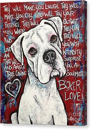 Boxer Love Canvas Print