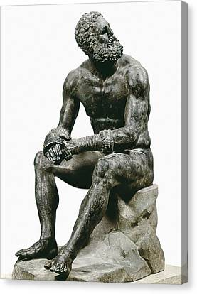 Boxer Seatted. 1st C. Hellenistic Art Canvas Print by Everett