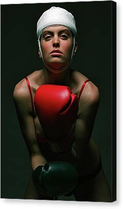 boxing Girl 2 Canvas Print