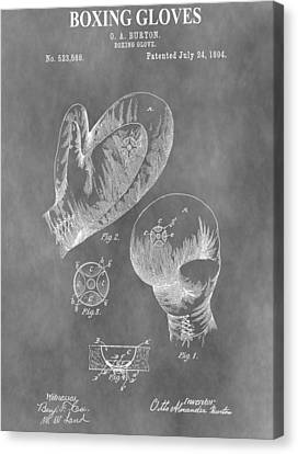 Fistfight Canvas Print - Boxing Glove Patent by Dan Sproul