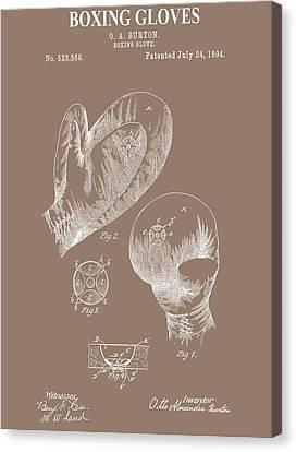Boxing Gloves Illustration Canvas Print