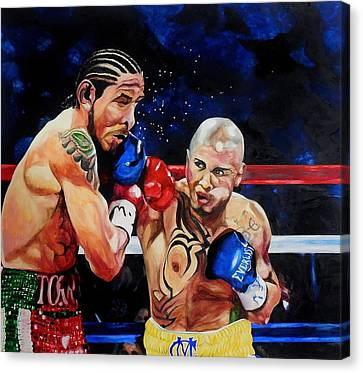 Boxing Canvas Print