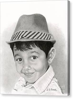 Boy In Fedora Canvas Print