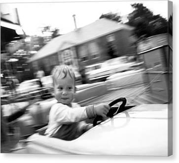 Boy On Ride At World's Fair Canvas Print