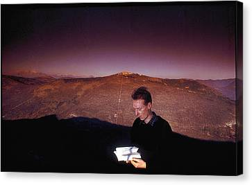 Half-length Canvas Print - Boy With The Book by Matjaz Preseren