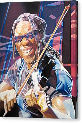 Dave Matthews Band Canvas Print - Boyd Tinsley And 2007 Lights by Joshua Morton