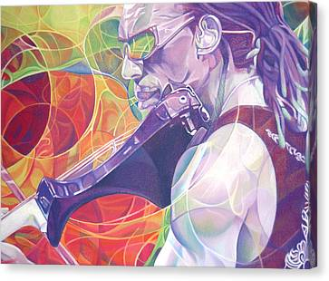 Dave Matthews Band Canvas Print - Boyd Tinsley And Circles by Joshua Morton