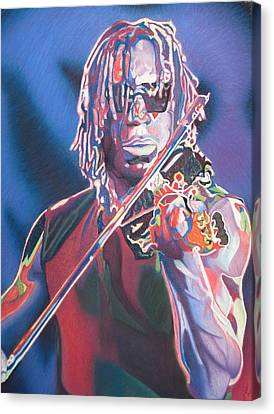 Boyd Tinsley Colorful Full Band Series Canvas Print by Joshua Morton