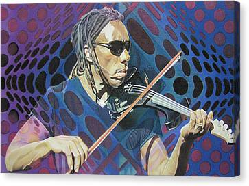 Dave Matthews Band Canvas Print - Boyd Tinsley Pop-op Series by Joshua Morton