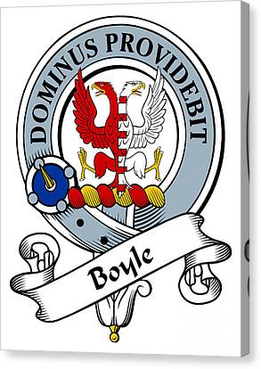 Boyle Clan Badge Canvas Print by Heraldry