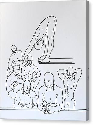 Boys At Play #5 Canvas Print