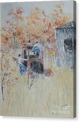Boys On The Old Truck Canvas Print