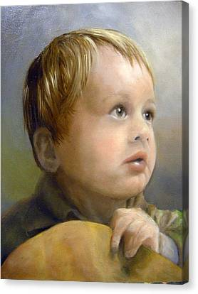 Boy's Wonder Canvas Print by Lori Ippolito
