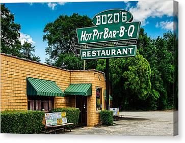 Barbecue Canvas Print - Bozo's Hot Pit Bar-b-q by Jon Woodhams