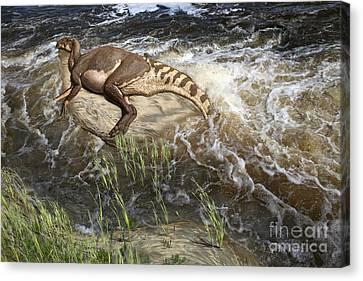 Brachylophosaurus Canadensis Corpse Canvas Print