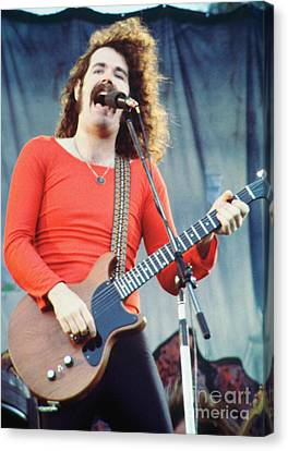 Brad Delp Of Boston-day On The Green 1 In Oakland Ca 5-6-79 1st Release Canvas Print by Daniel Larsen