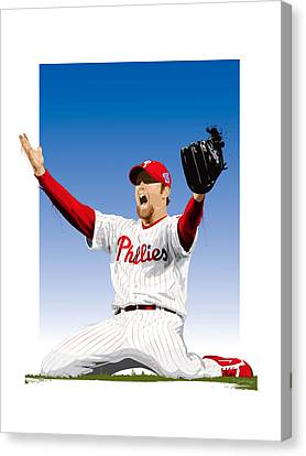 Citizens Bank Park Canvas Print - Brad Lidge Champion by Scott Weigner