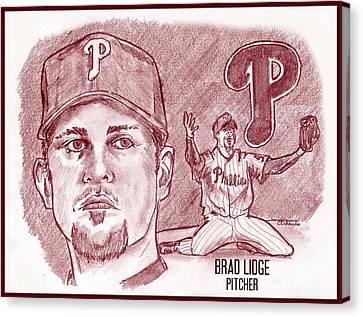 Philly Canvas Print - Brad Lidge by Chris  DelVecchio