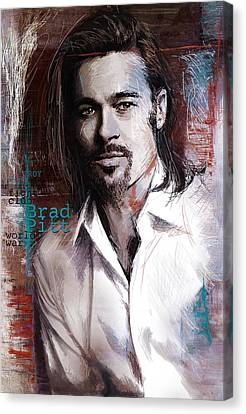 Brad Pitt Canvas Print by Corporate Art Task Force