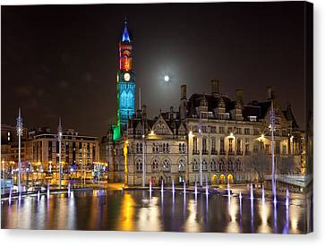 Bradford City Hall In The Evening Canvas Print