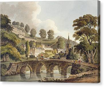 Bradford, From Bath Illustrated Canvas Print by John Claude Nattes