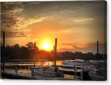 Bradley Creek Sunday Sunrise #3 Canvas Print by Phil Mancuso