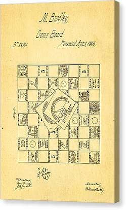 Bradley Game Of Life Patent 1866 Canvas Print by Ian Monk