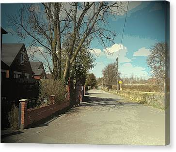 Bradshaw Street In New Sawley, A Private Road Close To Long Canvas Print