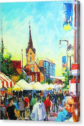 Brady Street Canvas Print by Les Leffingwell