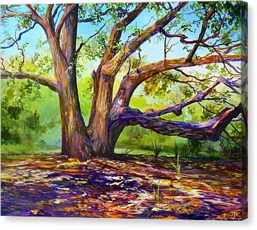 Braided Oak Canvas Print by AnnaJo Vahle