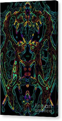 Canvas Print featuring the digital art Brain Activity Variation 4 by Devin  Cogger