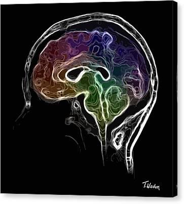 Shower Head Canvas Print - Brain And Mind by Tylir Wisdom