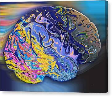 Brain Colours Canvas Print by Soumya Bouchachi