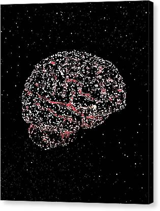 Brain Constellation Canvas Print