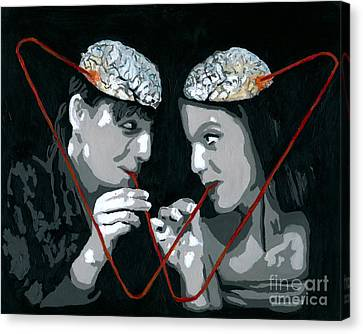Canvas Print featuring the painting Brain Food by Denise Deiloh