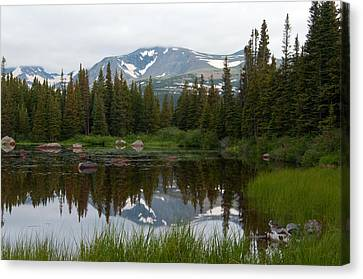 Canvas Print featuring the photograph Brainerd Lakes Spring Rain by Eric Rundle