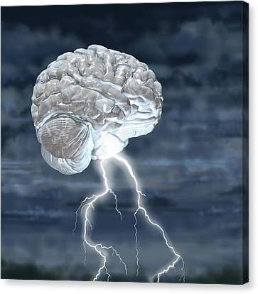 Brainstorm Canvas Print by Russell Kightley