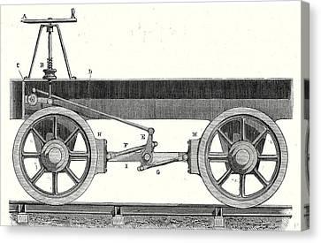 Brake Of A Wagon Canvas Print by English School