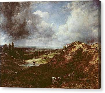 Branch Hill Pond, Hampstead Heath, 1828 Oil On Canvas Canvas Print by John Constable