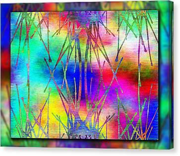 Branches In The Mist 7 Canvas Print by Tim Allen