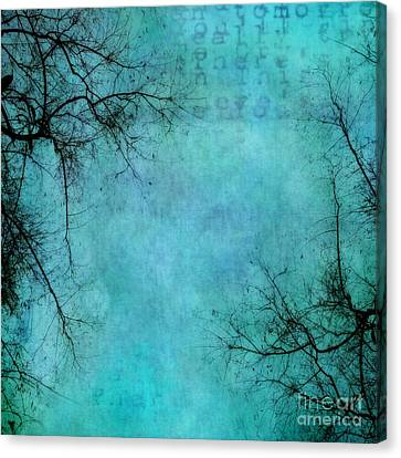 Blau Canvas Print - Branches by Priska Wettstein