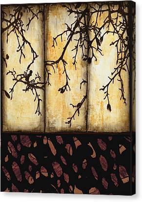 Contrast Canvas Print - Branching by Ann Powell