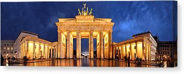 Brandenburg Gate Berlin Panorama Canvas Print by Marc Huebner