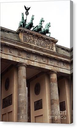 Brandenburg Gate Canvas Print by John Rizzuto