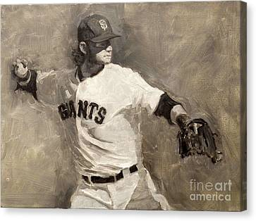 Brandon Crawford Canvas Print by Darren Kerr